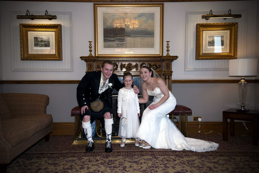 Kirsty and Alastair, family wedding, Inverness, Highland