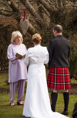 Wedding Vows in a Garden Bower